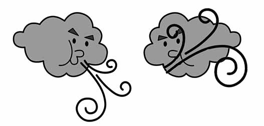 Dibujo de Nube soplando para Colorear - Dibujos.net